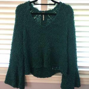 Free people teal sweater